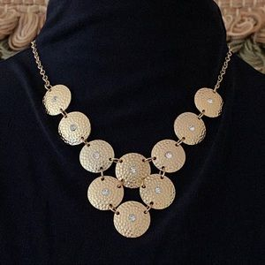 🎉5/20 SALE🎉 gold tone coin statement necklace